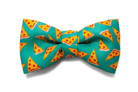 NYC Pizza Large Bow Tie | Zee.Dog