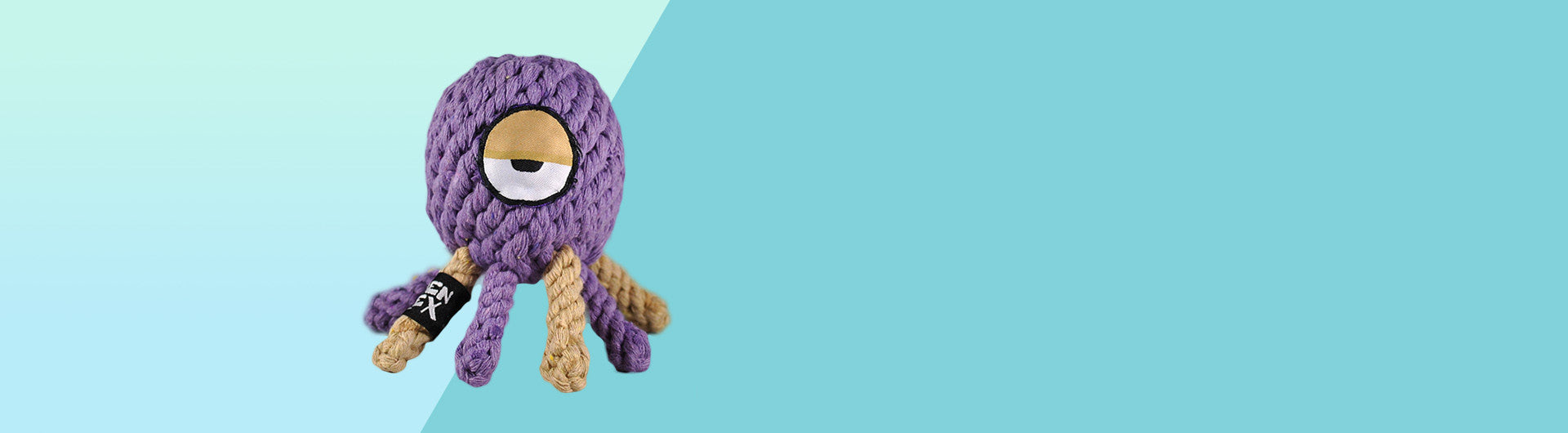Alien Flex Octupi | Cotton Rope Dog Toy