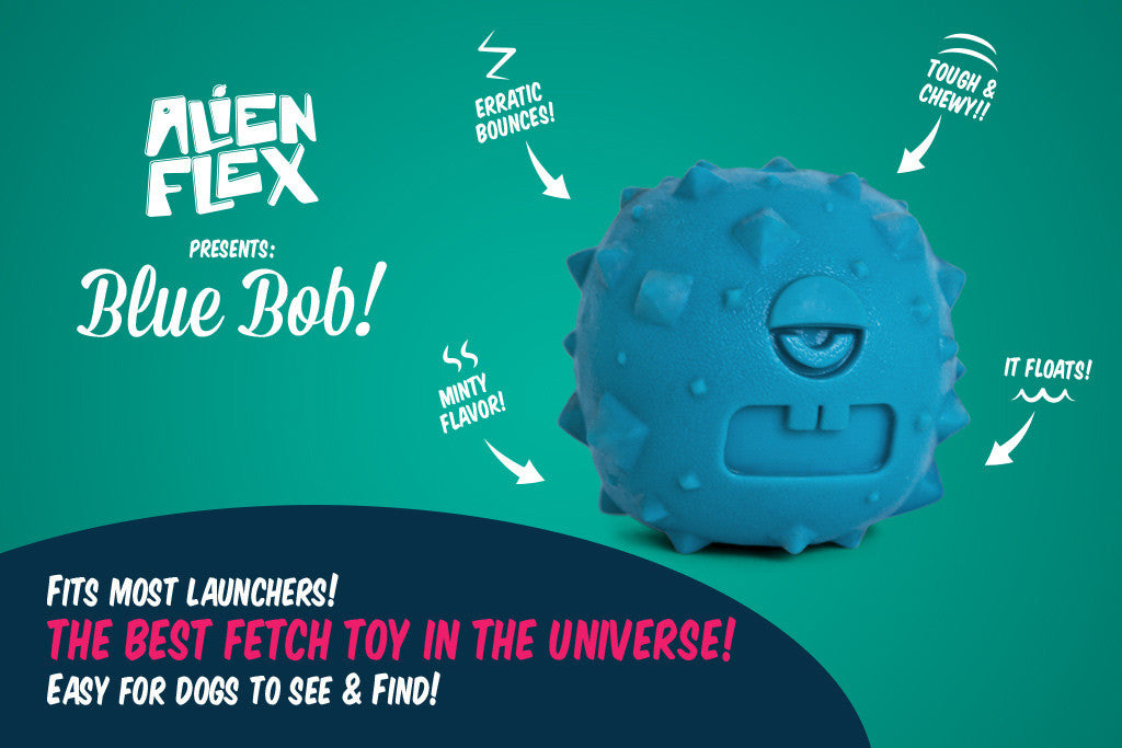 Alien Flex Blue Bob | Dog Ball Toy