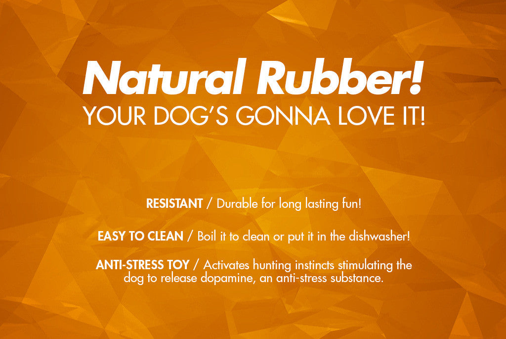 Super Orange Dog Toy - Natural Rubber | Zee.Dog