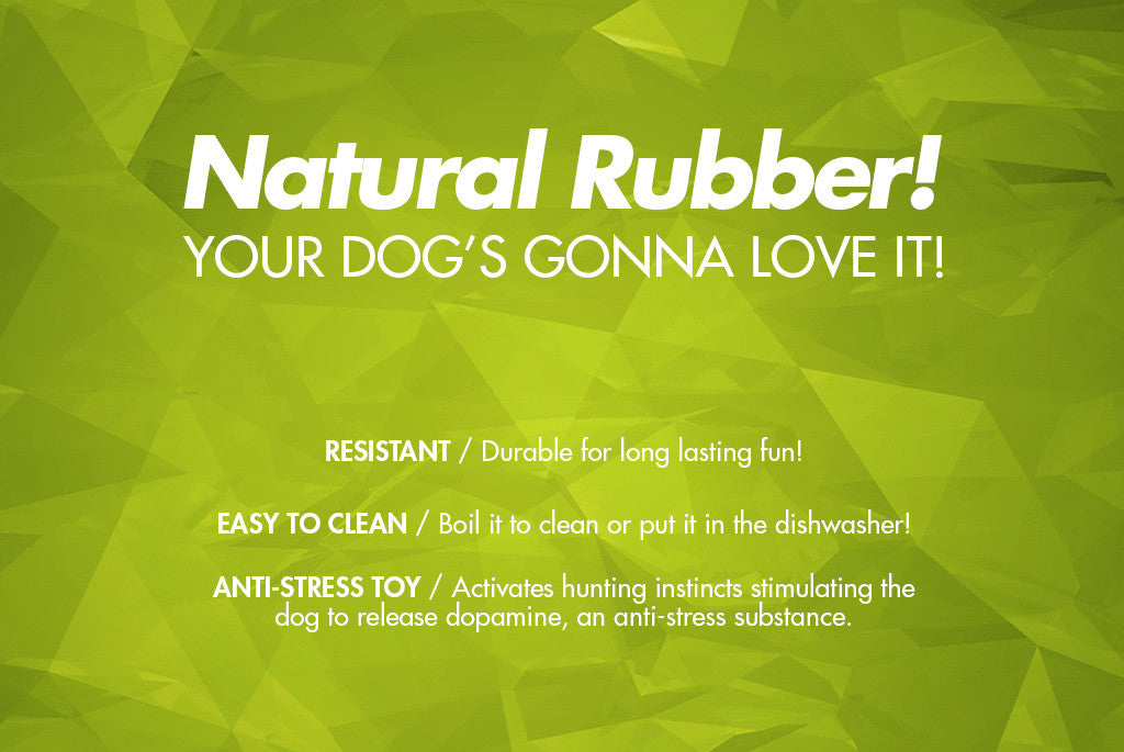 Super Pear Dog Toy - Natural Rubber | Zee.Dog