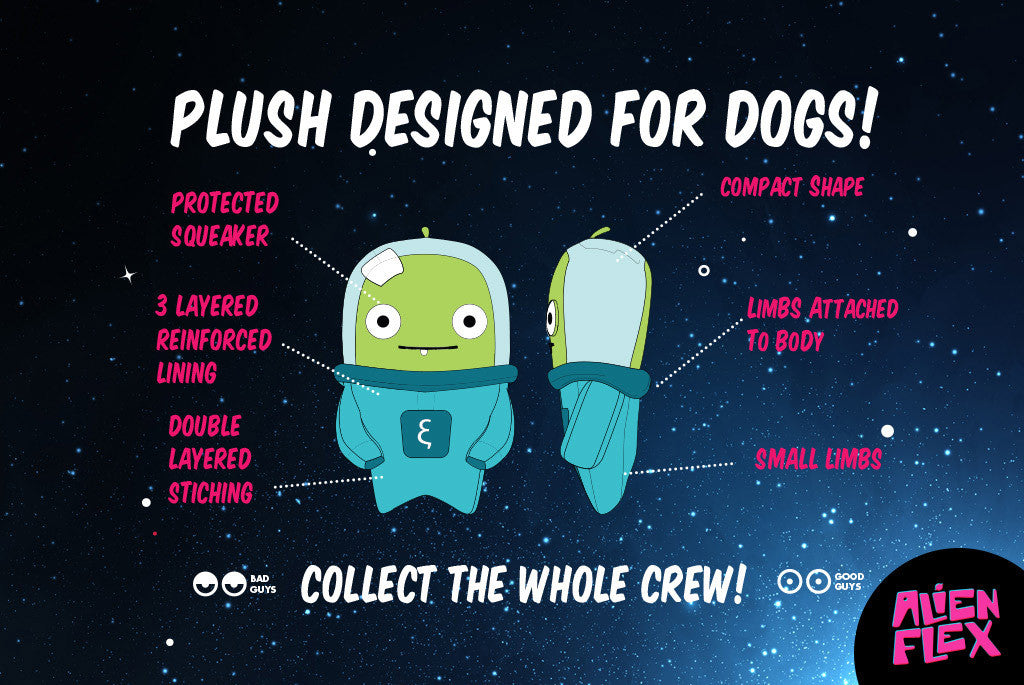 Alien Flex Bubu Dog Toy - Plush Designed for Dogs | Alien Flex