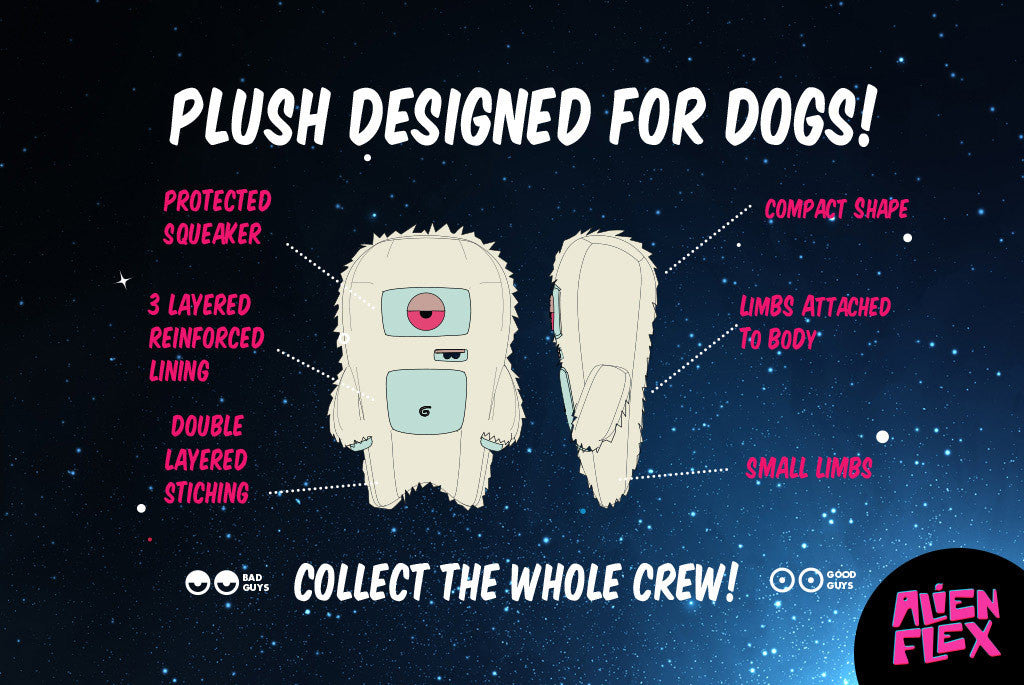 Alien Flex Harry Dog Toy - Plush designed for dogs | Alien Flex