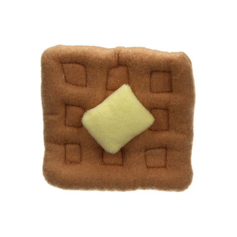 Buttered Waffle Pin (Brown/Yellow)