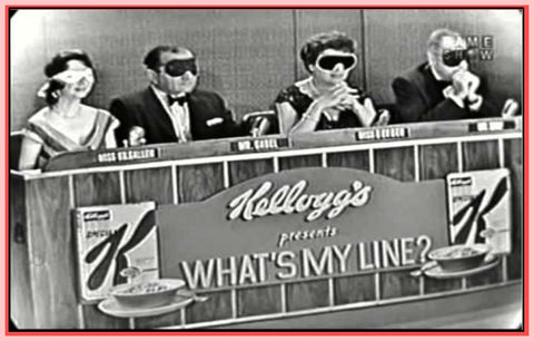 """WHAT'S MY LINE"" - ""AWARD WINNING - TV GAME SHOW"" - COLLECTION 1 - 200 EPISODES - 30 DVDS!"