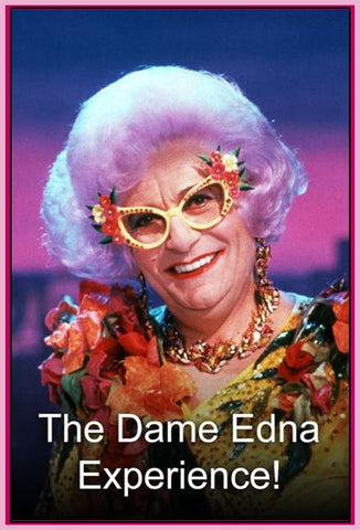 """DAME EDNA EXPERIENCE"" - LAUREN BACALL - TONY CURTIS - 2 SHOWS IN 1 DVD"