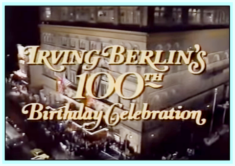 IRVING BERLIN 100TH BIRTHDAY CELEBRATION - DVD