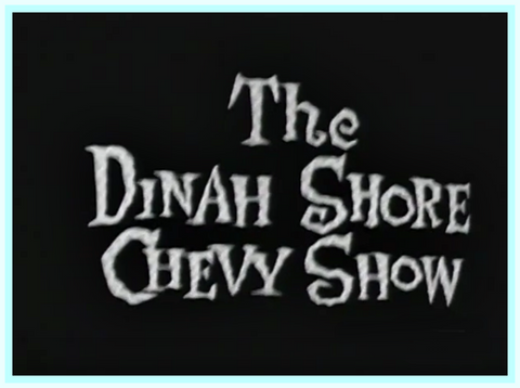 DINAH SHORE - CHEVY SHOW - 1959 - BOB CUMMINGS - STEVE LAWRENCE - MARGE & GOWER CHAMPION - RARE DVD