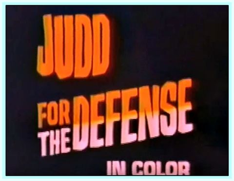 JUDD FOR THE DEFENSE - (1967) - TV SERIES - 12 DVDS