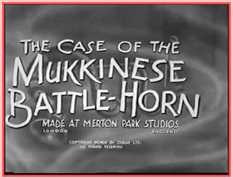 """THE CASE OF THE MUKKINESE BATTLE-HORN"" - PETER SELLERS - 1956  ""DVD"""