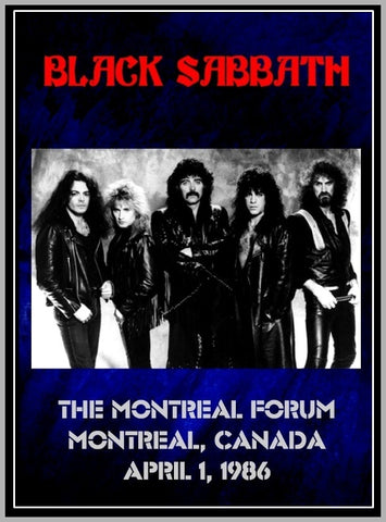 BLACK SABBATH - MONTREAL - CANADA - 1986 - 1 DVD
