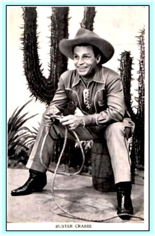 BUSTER CRABBE SHOW 1951 - NOT RECORDED OFF TV - RARE DVD