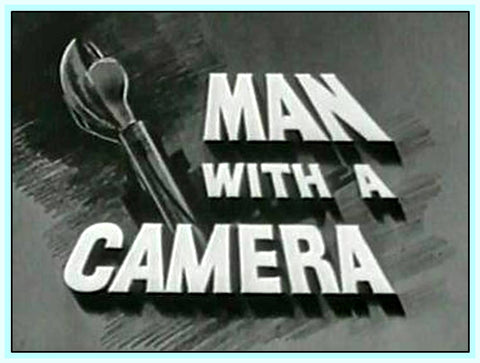 MAN WITH A CAMERA - AMERICAN CRIME DRAMA - 1950'S - 4 DVDS!