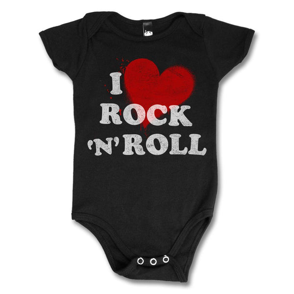 I Love Rock n' Roll Onesie - Black - Joan Jett Official Store