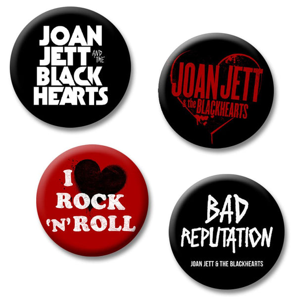 Logo Button Pack - Joan Jett Official Store