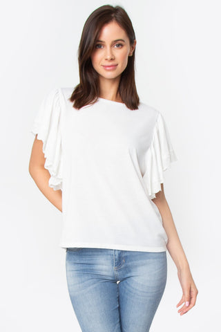 Libby Ruffle Sleeve Top