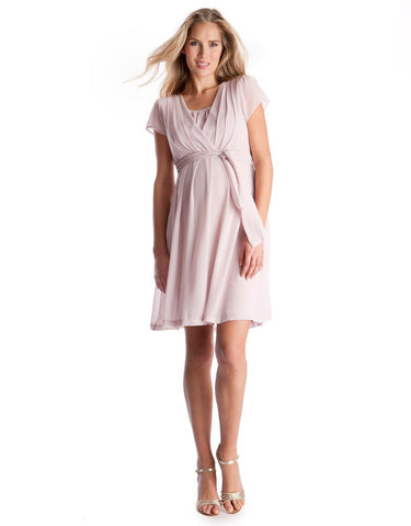 Jodie Blush Chiffon Dress