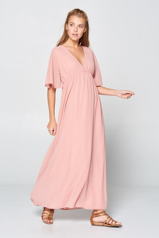 Van Mauve Maxi Dress