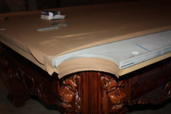 Danny Veghu0027s White Glove Pool Table Installation Crew Uses A Staple Gun In  Order To Felt The Pool Table Rails To Ensure Felt Is Fully Secure And Will  Not ...