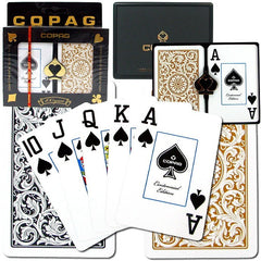 Plastic Playing Card , Black/Gold
