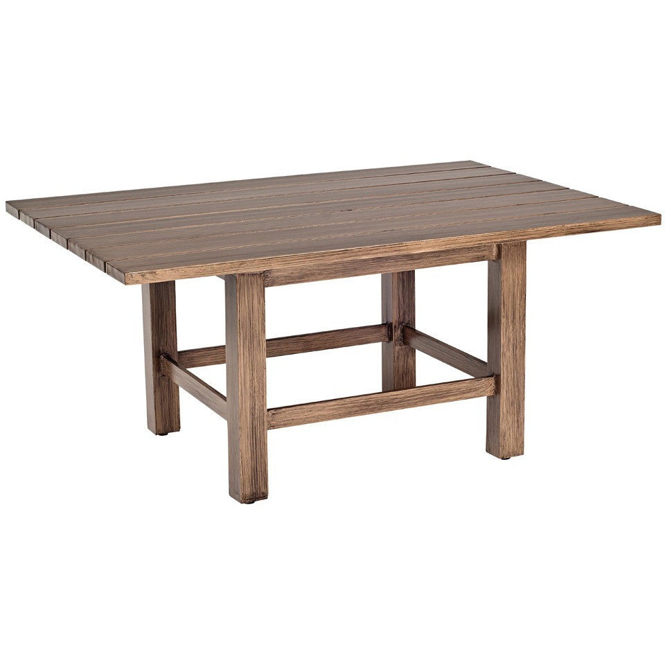 Augusta Woodlands Rectangular Coffee Table, Outdoor Furniture, Woodard - Danny Vegh's