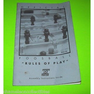 Foosball Rule Book, Foosball Accessories, Valley Dynamo - Danny Vegh's