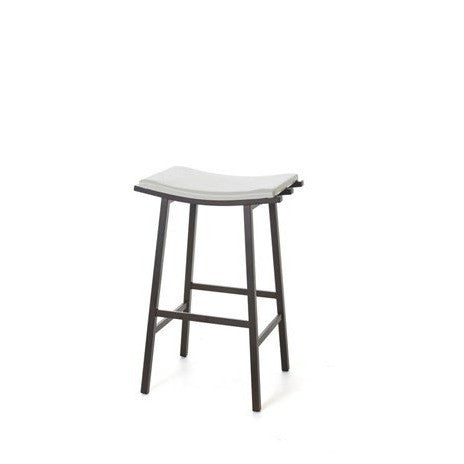 Nathan Backless Non Swivel Stool, Kitchen and Bar Stool, Amisco - Danny Vegh's
