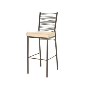 Crescent Non Swivel Stool with Cushion, Kitchen and Bar Stool, Amisco - Danny Vegh's