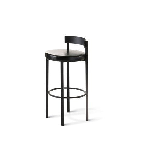 Zoe Non Swivel Stool with Cushion Seat