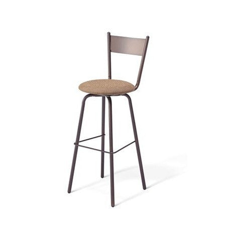 Crystal Swivel Stool with Cushion Seat