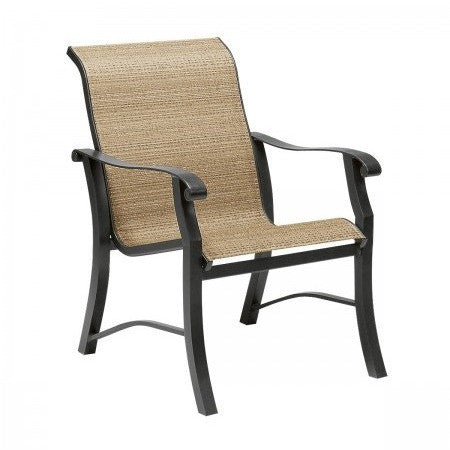 Cortland Sling Dining Arm Chair, Outdoor Furniture, Woodard - Danny Vegh's
