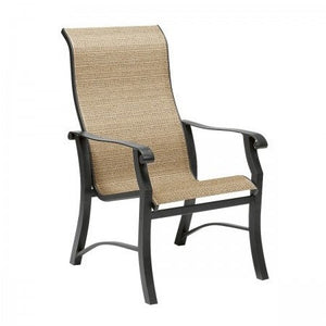 Cortland Sling High-Back Dining Arm Chair, Outdoor Furniture, Woodard - Danny Vegh's