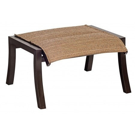 Cortland Padded Sling Ottoman, Outdoor Furniture, Woodard - Danny Vegh's