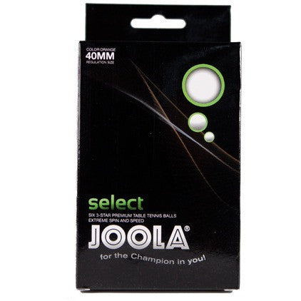 Select 3 Star 6 Balls White - Danny Vegh's - Ping Pong Accessories - Joola - 1