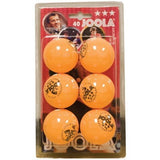 Rossi 3-Star Orange 6 Balls - Danny Vegh's - Ping Pong Accessories - Joola
