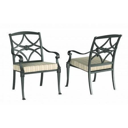 Wiltshire Dining Arm Chair with Optional Seat Cushion - Stackable, Outdoor Furniture, Woodard - Danny Vegh's