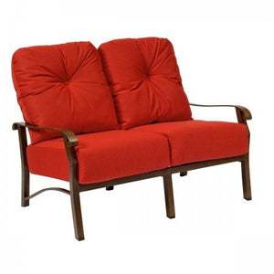 Cortland Cushion Loveseat, Outdoor Furniture, Woodard - Danny Vegh's