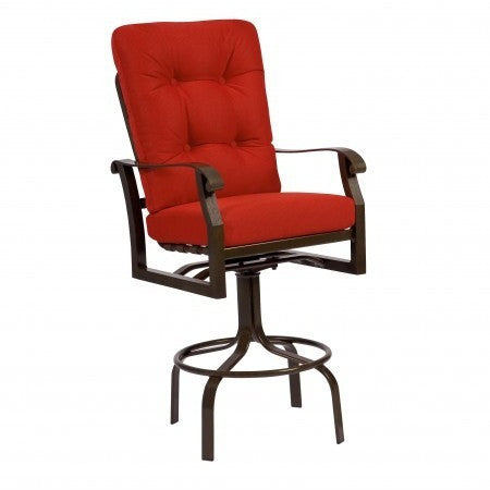 Cortland Cushion Swivel Barstool, Outdoor Furniture, Woodard - Danny Vegh's
