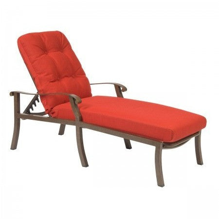 Cortland Cushion Adjustable Chaise Lounge, Outdoor Furniture, Woodard - Danny Vegh's