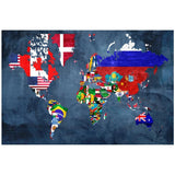 60 x 40 The World, Home Decor, Leftbank Art - Danny Vegh's