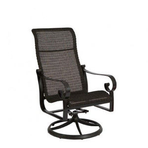 Belden Woven High Back Swivel Rocker, Outdoor Furniture, Woodard - Danny Vegh's