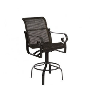 Belden Woven Swivel Bar Stool, Outdoor Furniture, Woodard - Danny Vegh's