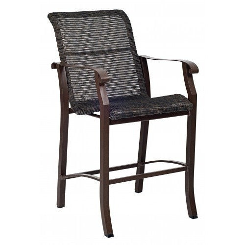 Cortland Woven Stationary Bar Stool, Outdoor Furniture, Woodard - Danny Vegh's