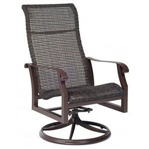 Cortland Woven High-Back Swivel Rocker, Outdoor Furniture, Woodard - Danny Vegh's