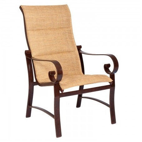 Belden Padded Sling High Back Dining Arm Chair