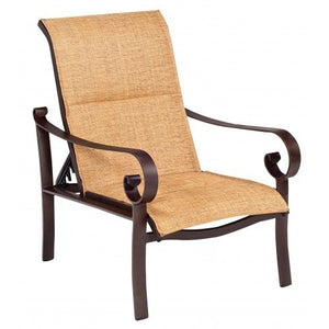 Belden Padded Sling Adjustable Lounge Chair, Outdoor Furniture, Woodard - Danny Vegh's