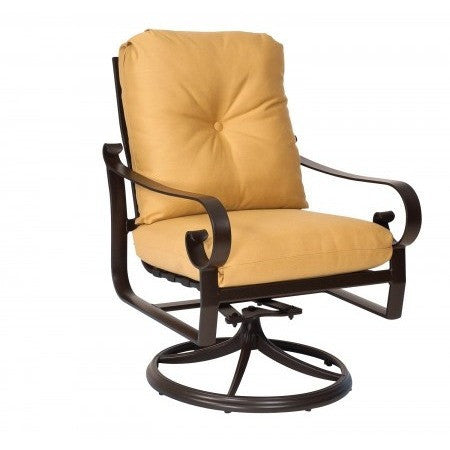 Belden Cushion Swivel Rocker Dining Arm Chair, Outdoor Furniture, Woodard - Danny Vegh's