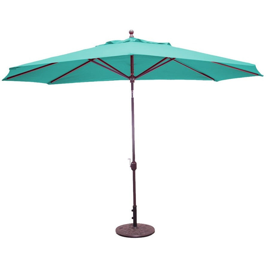 8 x 11 ft Deluxe Autotilt Aluminum Market Umbrella, Outdoor Furniture, Galtech - Danny Vegh's