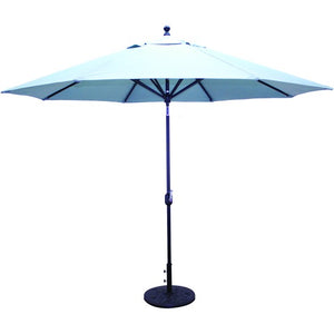 11 ft Deluxe Autotilt Aluminum Market Umbrella, Outdoor Furniture, Galtech - Danny Vegh's