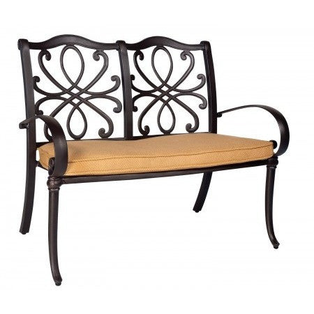 Holland Bench with Optional Cushion, Outdoor Furniture, Woodard - Danny Vegh's